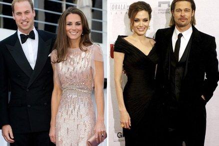 Brad a Angelina na odpoledním čaji s Kate a Williamem!