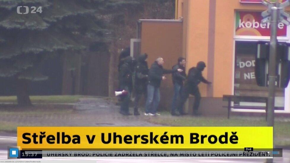 Policejní zásah proti střelci