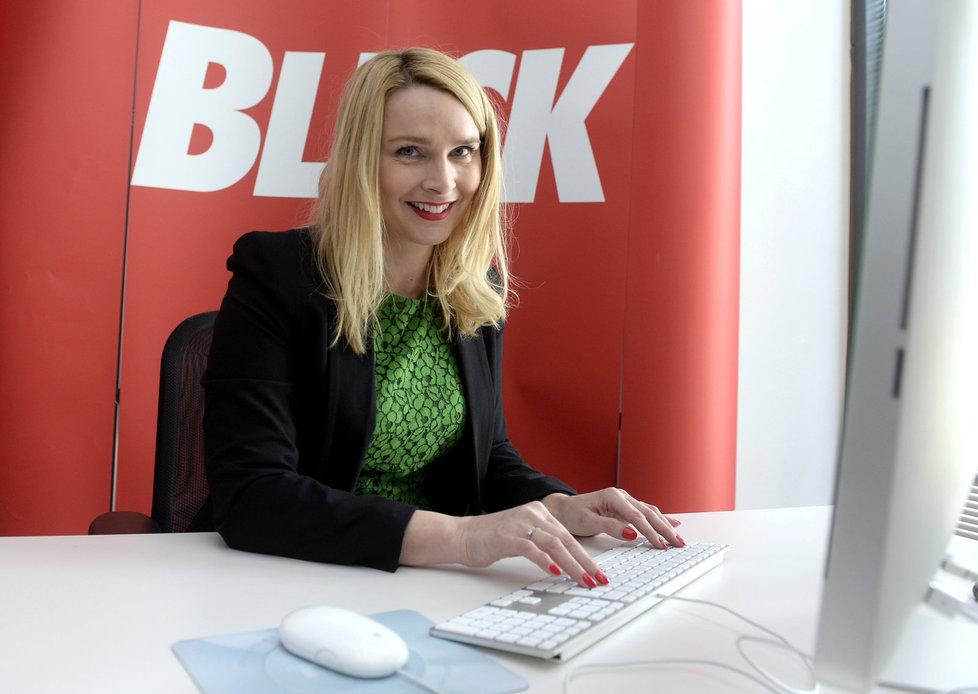 Náměstkyně ministra zdravotnictví Lenka Teska Arnoštová v redakci Blesku