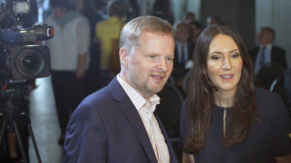 Předseda ODS Petr Fiala a místopředsedkyně Alexandra Udženija