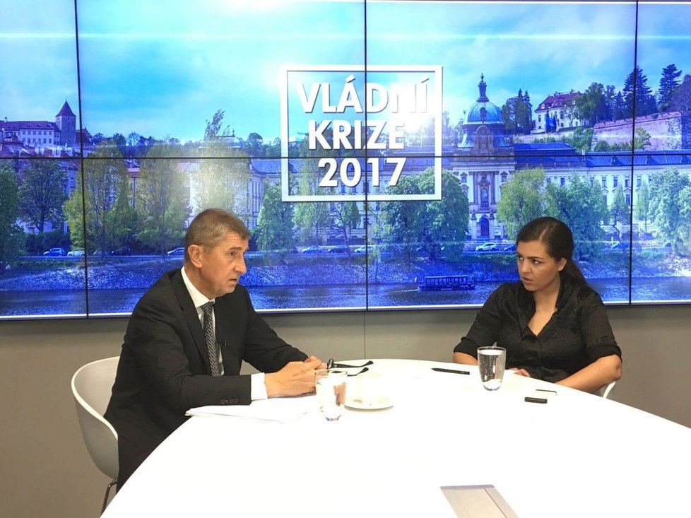 Andrej Babiš ve čtvrtečním rozhovoru s Verou Renovicou ve Studiu Blesk