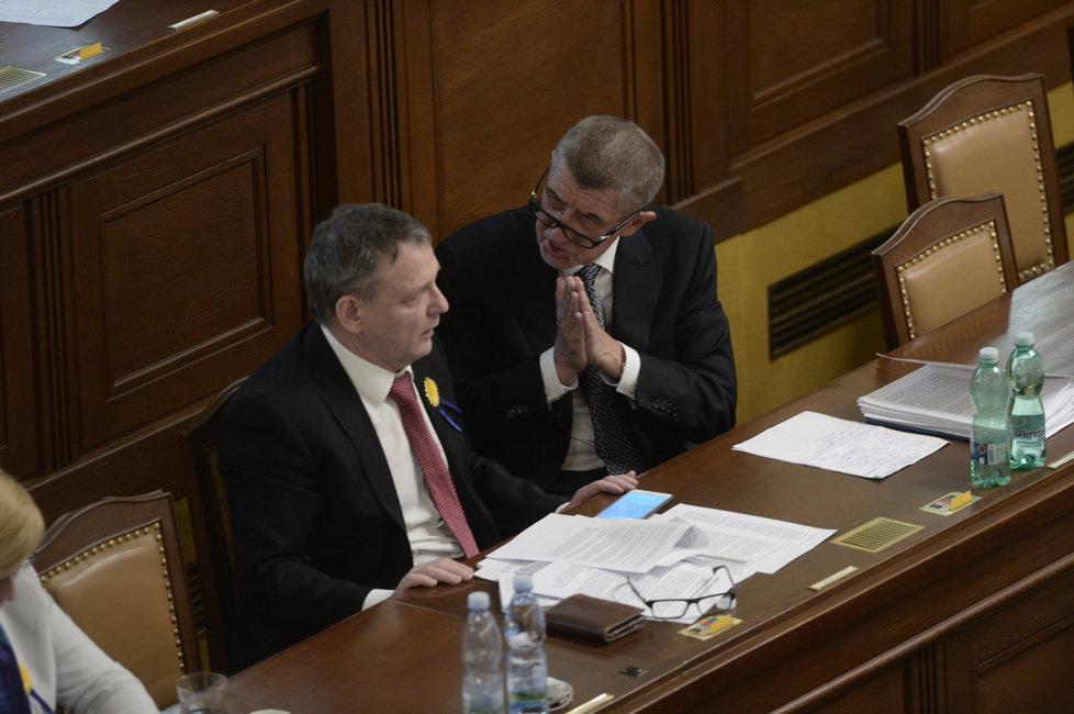 Vicepremiér Andrej Babiš (ANO) na schůzi Sněmovny o údajném zneužívání moci