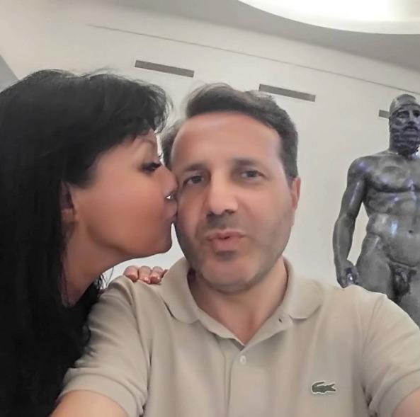 Dáda s Vitem v muzeu v Kalábrii