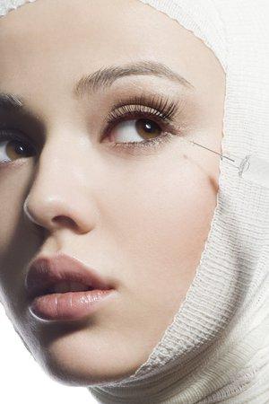 žena na botoxu