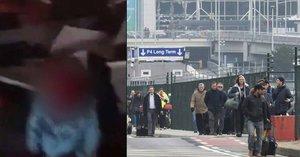 Srdceryvné video: Zakrvácená holčička plakala nad mrtvou maminkou na bruselském letišti