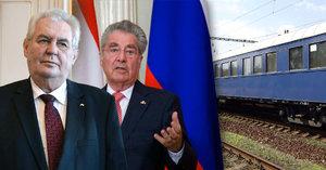 Zeman nachystal show pro Rakousko: Děla, historická smlouva i Masarykův vlak