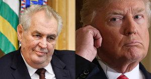 Místo Zemana přijme Trump Rumuna. Omluvný dopis Hrad nechce ukázat