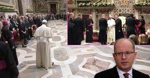 Papež přijal lídry zemí EU. Sobotka ho pozval do Česka