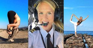 Sexy pilotka Maria (25) cestuje po celém světě a dělá jógu: Sleduje ji armáda fanoušků