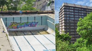 Lesk a bída festivalového hotelu: Bazén u Thermalu posprejovali vandalové
