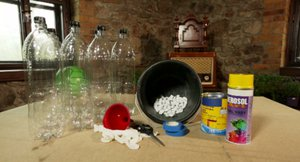 Vychytávky Ládi Hrušky: Kuželky z PET lahví