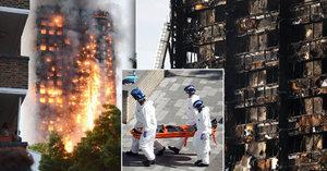 Ohnivé peklo v Londýně: Oběti dostanou statisícovou finanční pomoc. Počet obětí stoupl na 79