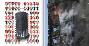 Ohnivé peklo v Londýně má už asi 58 obětí. Ohořelá těla se nedaří identifikovat