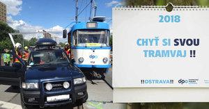 Chyť si svou tramvaj: 60 nehod inspirovalo Ostravany a stvořili kalendář