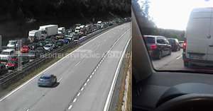 Kilometrové kolony, hodiny v zácpě: Svátky začaly dopravním kolapsem, D1 stála