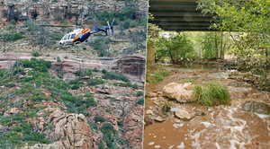 Povodeň na koupališti zabila holčičku (†2) a osm jejích blízkých v Arizoně