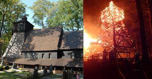 Pojišťovna vyplatí za vyhořelý kostel v Gutech 20 milionů, podezřelí si stěžují na vazbu