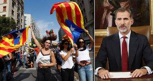 """""""Králi, zklamal jste většinu Katalánců,"""" míní tamní premiér. Brutální násilí řeší i EU"""