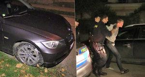Honička v Praze 5! Řidič ujel od benzinky bez zaplacení a naboural několik aut
