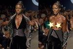 Hrozný trapas: Modelce praskly šaty na módní přehlídce. Ukázala skoro vše!