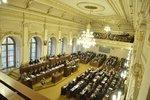 Zasedání sněmovny při návštěvě prezidenta Zemana a před hlasováním o důvěře vládě