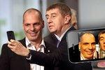 Andrej Babiš si udělal selfíčko s řeckým ministrem financí