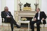 Prezident Miloš Zeman na jednání v Moskvě s Vladimirem Putinem
