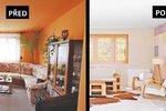 Proměna obýváku: Zmizely starý gauč i obří stěna, přibyla kamna