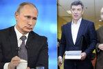 Kritik Kremlu a Němcovův přítel Kara-Murza (vpravo) skončil za záhadných okolností v bezvědomí v nemocnici