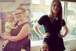 Mladé mamince se podařilo zhubnout desítky kil.