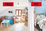Proměna podkroví: Z nezabydleného prostoru vznikla romantická ložnice i útulná pracovna