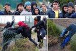 Stovky nelegálních imigrantů se snaží dostat z Francie do Velké Británie.