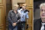Josef Rychtář po propuštění z cely předběžného zadržení skučí.
