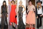 Nej outfity uplynulého týdne: Nahé šaty versus klasika. Kdo vyhrává?
