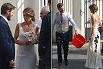Zarostlý ženich David Švehlík na své veselce nosil červený kýbl a nevěsta se šklebila.