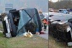 V Německu se převrátil autobus s dětmi, jedno zemřelo