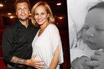 Monika Absolonová konečně porodila! Malý Tadeáš se narodil na tatínkovy narozeniny