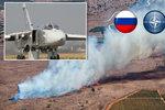 Ruský vojenský letoun Su-24 sestřelený tureckou armádou