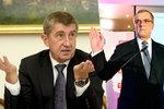 Předsedové proti sobě. Andrej Babiš se pustil do nového šéfa TOP 09 Miroslava Kalouska.