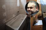 Cela a koupelna Radovana Krejčíře jsou neskutečný humus.