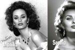 20 let stará fotka: Monika Absolonová jako dvojnice Sophie Loren