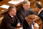 Jandák varoval před líbáním, Kalousek foukal dým na ministra. Kvůli zákazu kouření