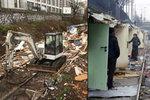 Pařížská policie zbourala slum, kde bez vody a elektřiny žilo 60 romských rodin.