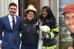 Pád jeřábu, který zabil Čecha Davida Wichse, málem překazil svatbu. Novomanžele nakonec oddala hasička.
