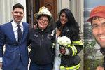 Pád jeřábu, který rozdrtil Čecha Davida, svatbu nepřekazil: Novomanžele oddala hasička!