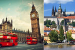 Bydlet v Praze a létat denně do Londýna je prý levnější než bydlet přímo v Londýně