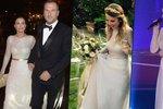 Gábina Partyšová neměla při výběru svatebních šatů příliš originalní ruku.