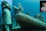 Unikátní podvodní galerie Museo Atlantico u Kanárských ostrovů.