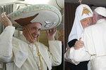 Papež cestuje Amerikou. Na Kubě se setkal s ruským patriarchou Kirillem, v Mexiku si mimo jiné vyzkoušel tradiční klobouk.