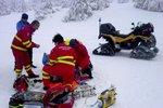 Cvičení horské služby se změnilo v boj o život: Muž zabloudil a málem umrzl